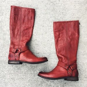 Frye Phillip Harness Tall Leather Boot